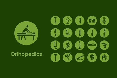 Jest to zestaw prostych ikon ortopedii internetowych Ilustracje wektorowe