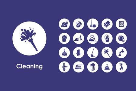 Il est un ensemble de nettoyage icônes web simples