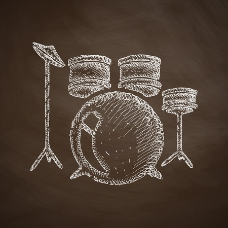 leather goods: drum set icon