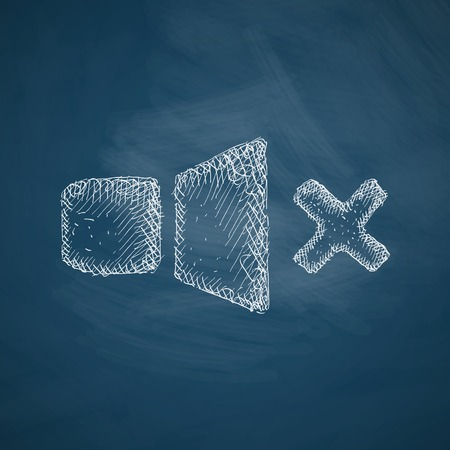 oscillations: sound off icon Illustration