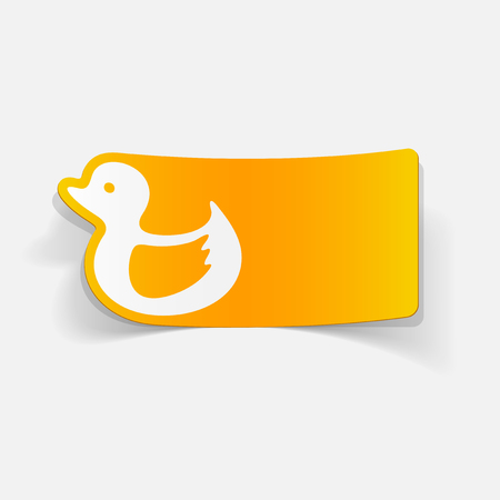 and element: realistic design element: duck Illustration