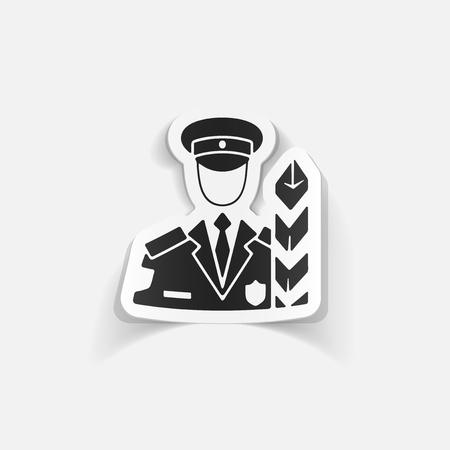 inspector: realistic design element. customs inspector