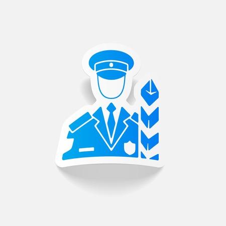 professionalism: realistic design element. customs inspector