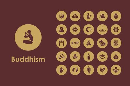 jing: It is a set of buddhism simple web icons