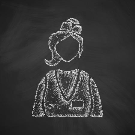 saleswoman: saleswoman icon Illustration