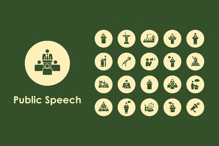 convention center: It is a set of public speech simple web icons