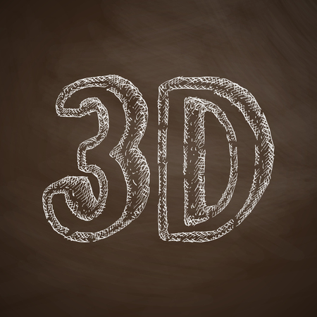 three d: three d icon