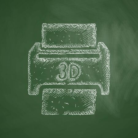 three d: three d printer icon