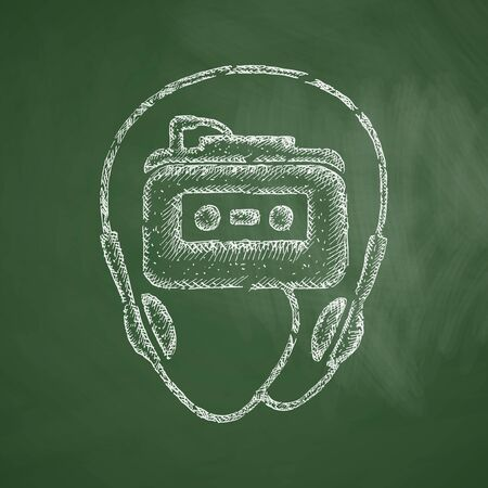 casette: music player icon Illustration