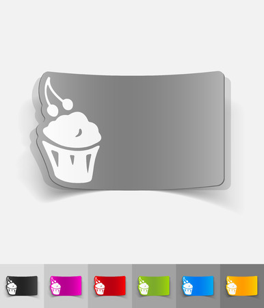 cake paper: cake paper sticker with shadow. Vector illustration Illustration