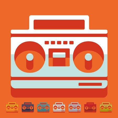 grabadora: Diseño plano: grabadora de cassette