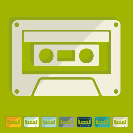 Flat design: audiocassette
