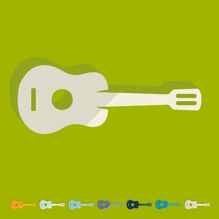 repertoire: Flat design: guitar