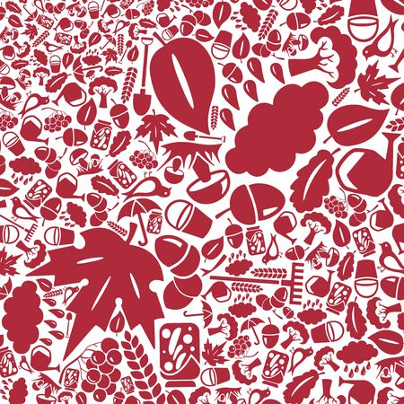 autumn background: vector background of the flat autumn icons