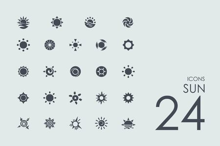 zenith: sun vector set of modern simple icons