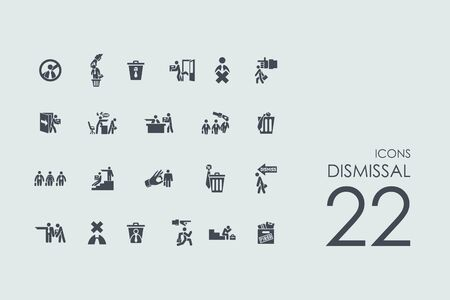 severance: dismissal vector set of modern simple icons
