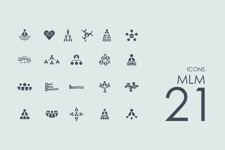 mlm: MLM vector set of modern simple icons Illustration
