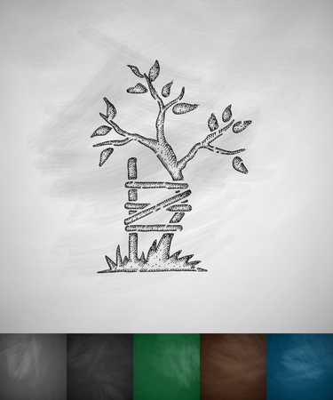 símbolo de icono de la ortopedia. Dibujado a mano ilustración vectorial. Diseño pizarra