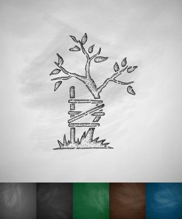 symbole de l'orthopédie icône. Hand drawn illustration vectorielle. Chalkboard Conception