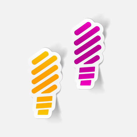 environmental analysis: realistic design element: fluorescent light bulb Illustration