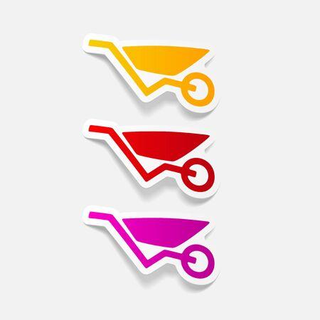 wheelbarrow: realistic design element: wheelbarrow Illustration
