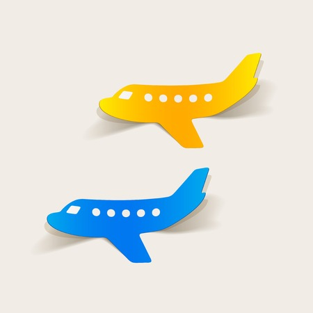 realistische ontwerp element: vliegtuig