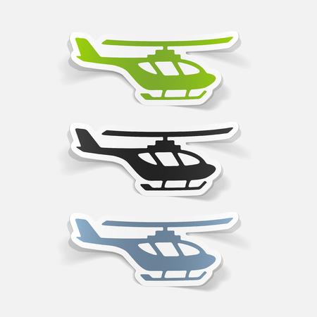 realistico elemento di design: elicottero
