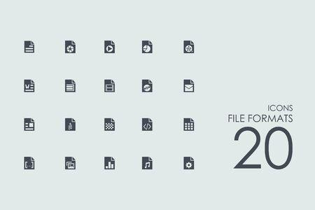formats: file formats vector set of modern simple icons Illustration