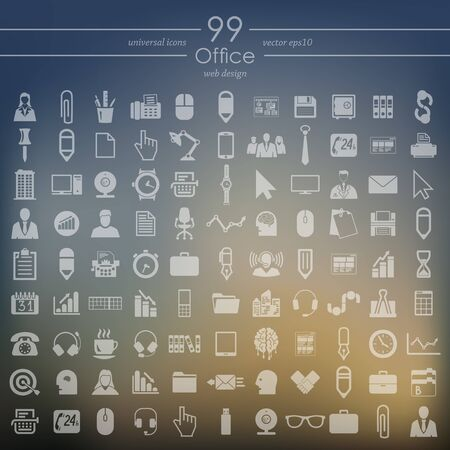 urbanization: Set of office icons