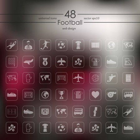 offside: Set of football icons