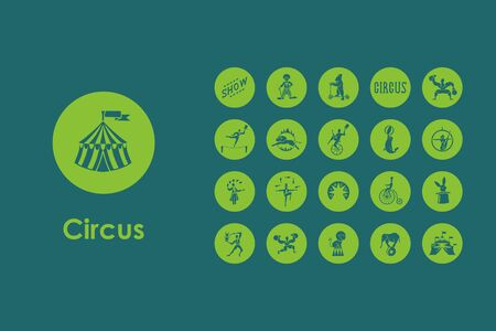 marquees: It is a set of circus simple web icons