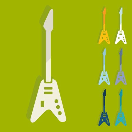 rosewood: Flat design: electric guitar Illustration