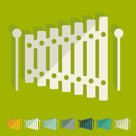 xilofono: Diseño plano: xilófono
