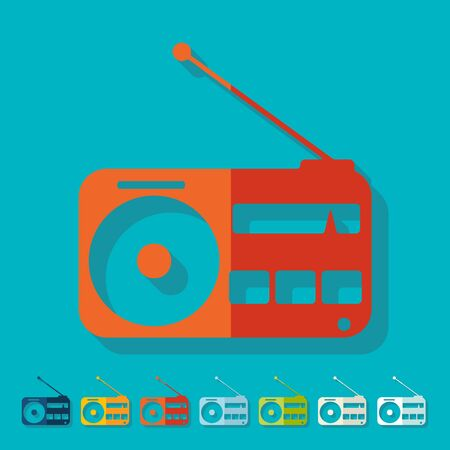 goods station: Flat design: radio