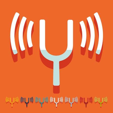 vibrancy: Flat design: tuning-fork Illustration