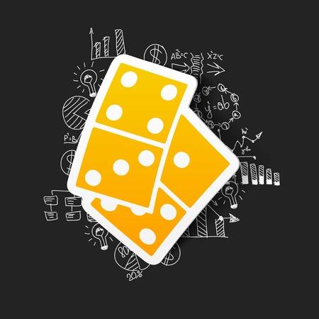 domino: Drawing business formulas: domino Illustration