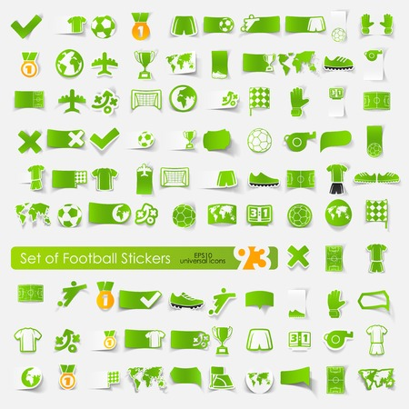 penalty flag: Set of football stickers