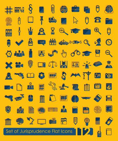jurisprudencia: Set of jurisprudence icons Vectores