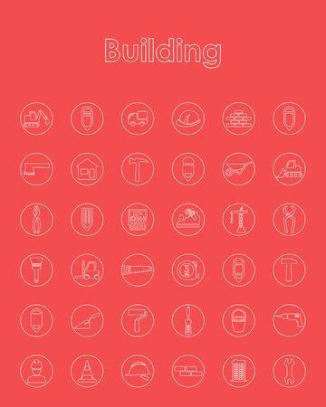 premises: Set of building simple icons
