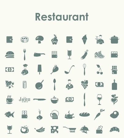 restaurant icon: Set of restaurant simple icons