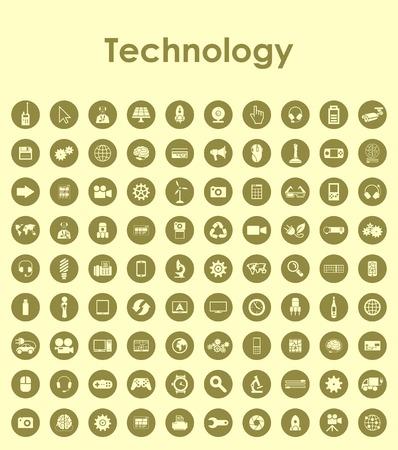 modernization: Set of technology simple icons