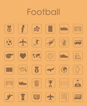 showground: Set of football simple icons