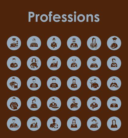 Conjunto de iconos simples profesiones