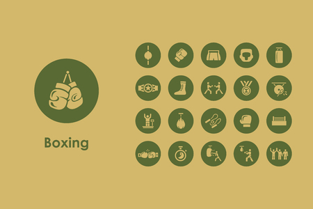 boxing sport: It is a set of boxing simple web icons