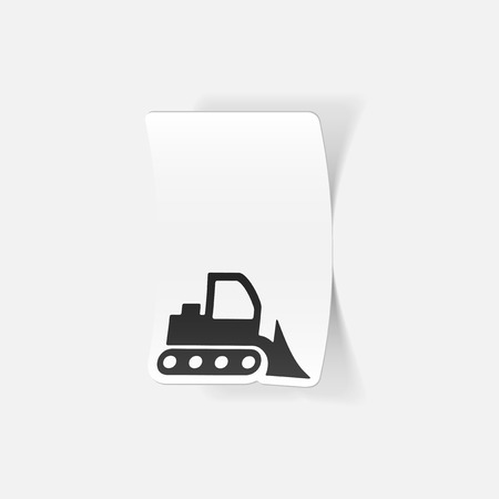 and element: realistic design element: bulldozer Illustration