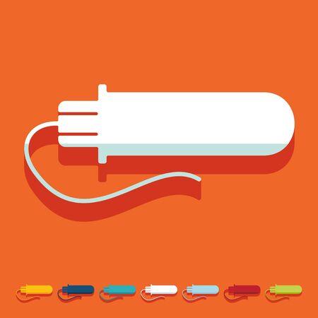 pms: Flat design: gynecological tampon Illustration
