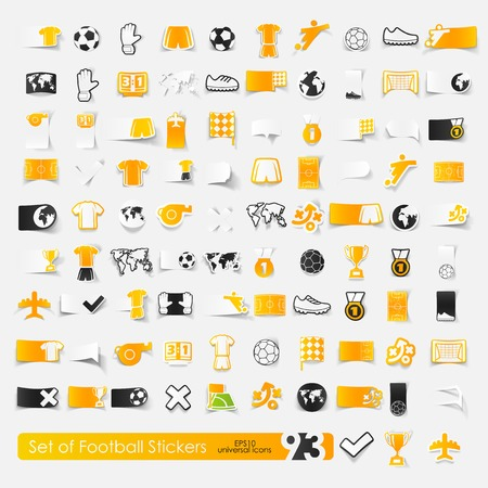match preview: Set of football stickers
