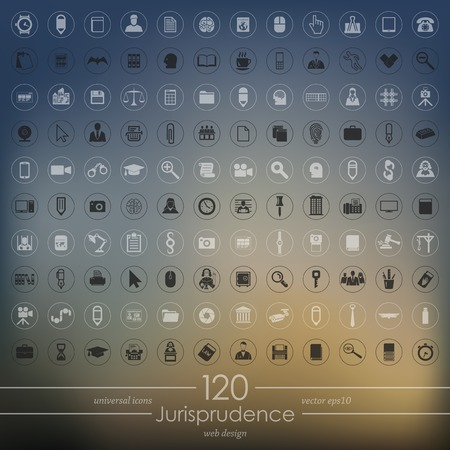 juror: Set of jurisprudence icons Illustration