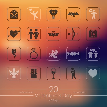 reciprocity: Set of Valentines Day icons