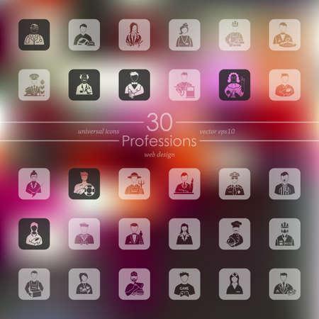 professions: Conjunto de iconos de profesiones Vectores